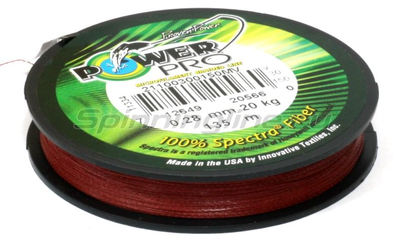 Шнур Power Pro Red 135м 0.19мм -  3