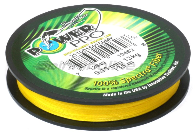 Шнур Power Pro Hi-Vis Yellow 135м 0.23мм -  5