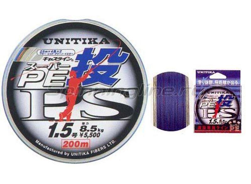 Шнур Unitika Castline PE PS 200м 0.8 -  1