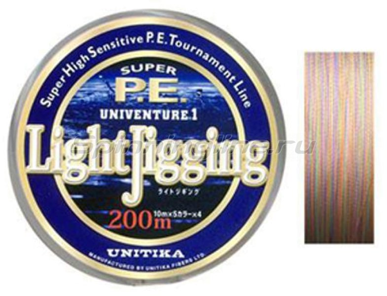 Шнур Unitika Univenture Light Jigging 200м 0.8 -  1