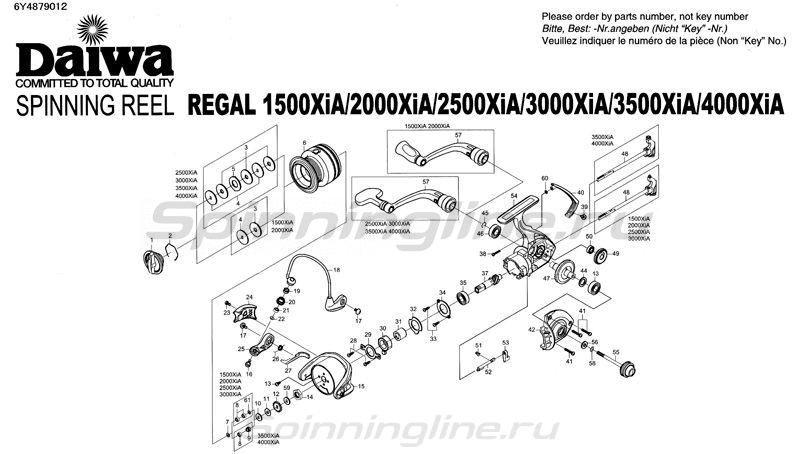 Катушка Regal 2500 XIA -  9