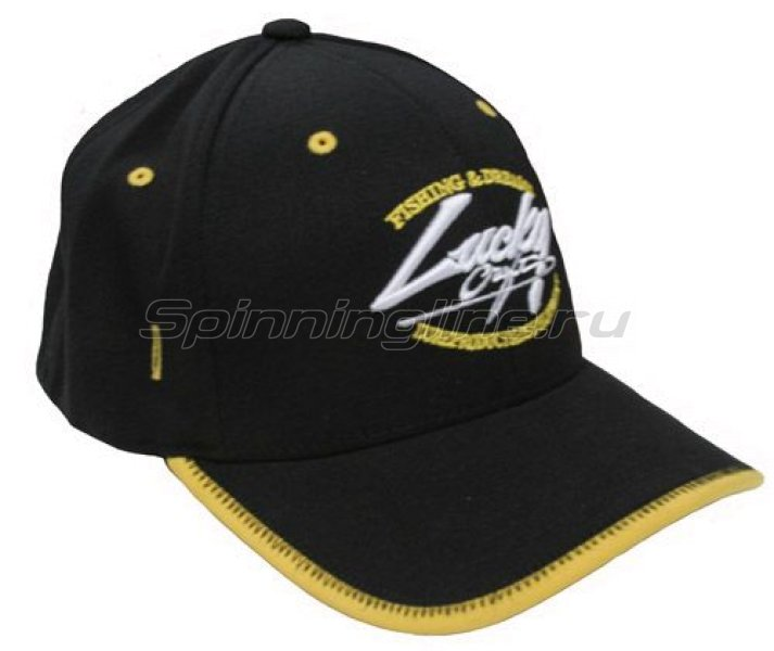 Кепка Lucky Craft Racing Flex Fit Cap Black/Yellow - фотография 1
