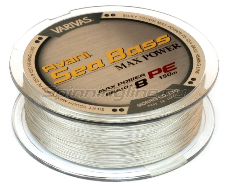 Varivas - Шнур Avani Sea Bass Max Power PE 8 Braid 150м 0.8 - фотография 2