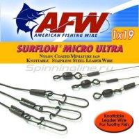Поводок оснащенный AFW Surflon Micro Ultra 1*19 12кг-25см