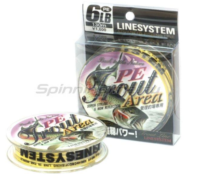 LineSystem - Шнур Trout Area PE 130м 0.4 - фотография 1