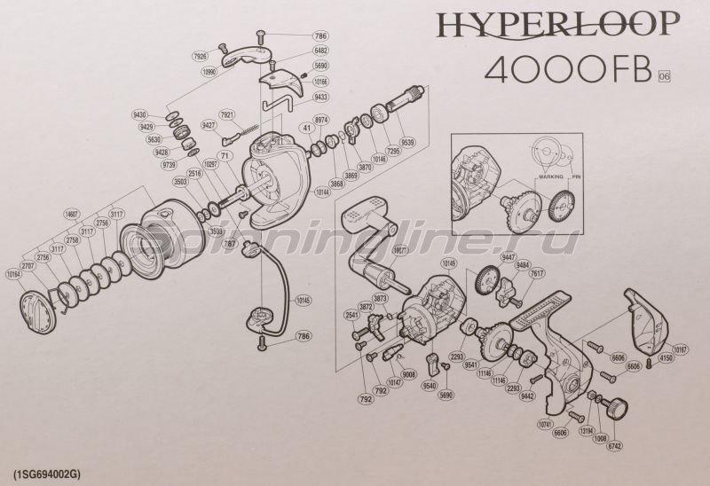 Shimano - Катушка Hyperloop 4000 FB - фотография 7