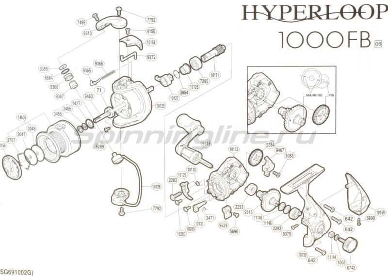 Катушка Hyperloop 1000 FB -  5