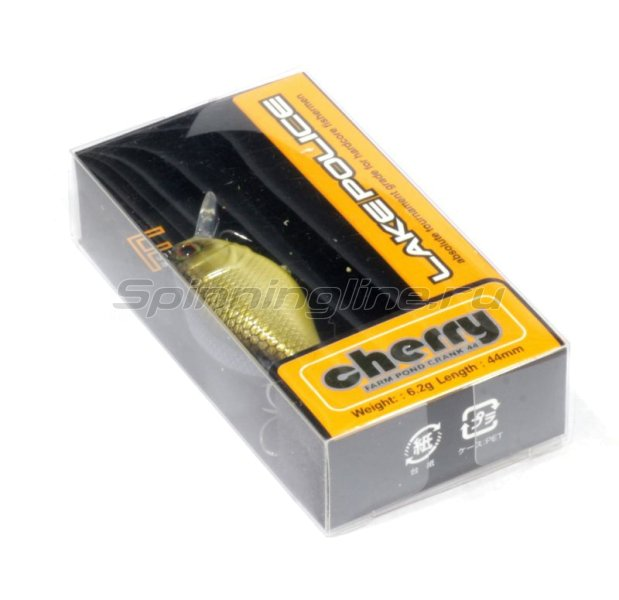 Воблер Cherry 44 hl silver & black -  2