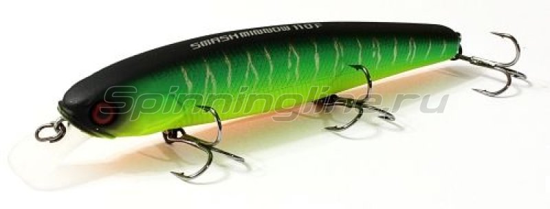 Jackall - Воблер Smash Minnow 110 SP matt tiger - фотография 1