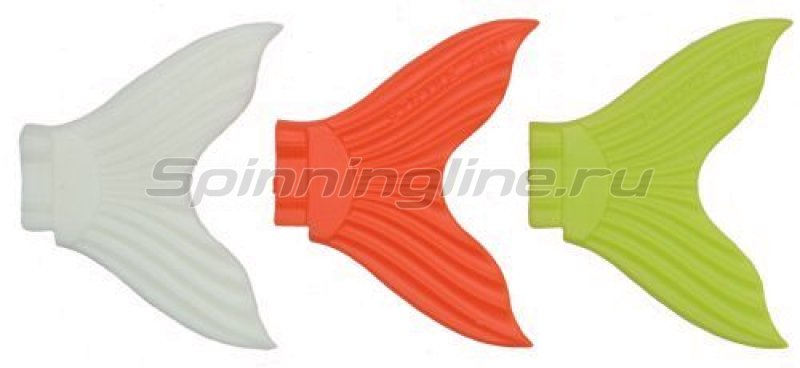 STRIKE PRO - Хвост для джеркбейта X Buster EG-051T желтый, оранжевый, белый светящ. - фотография 1