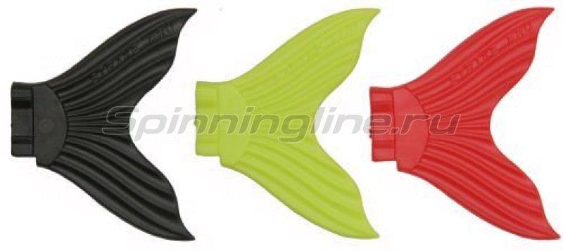Хвост для джеркбейта X Buster EG-051T желтый, черный, красный -  1