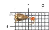 Мормышка LumiCom Безмотылка №1 капля с ушком d5 медь