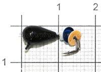 Мормышка Безмотылка №3 капля с ушком d5 черный лак