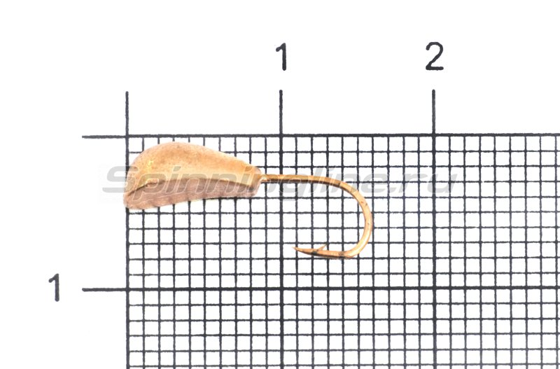 Lumicom - Мормышка Уралка волжская с отверстием d5 медь - фотография 1