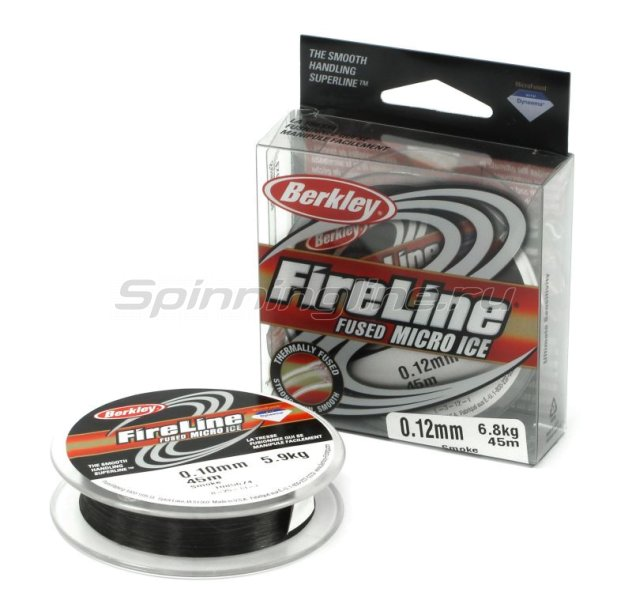Berkley - Шнур FireLine Micro Ice Smoke 45м 0,10мм - фотография 1