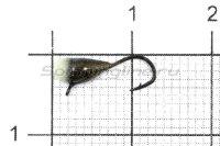 Мормышка LumiCom Капля с ушком d3.2 черный никель с фосфорной каплей
