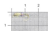 Мормышка LumiCom Коза капля d2.5 серебро