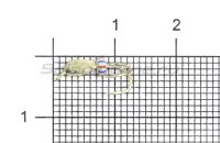 Мормышка Коза капля d2.5 серебро