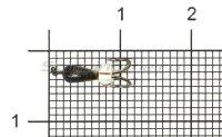 Мормышка Коза капля d2.5 черный никель