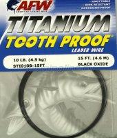 Поводковый материал AFW Titanium Tooth Proof 34кг, 4.6м