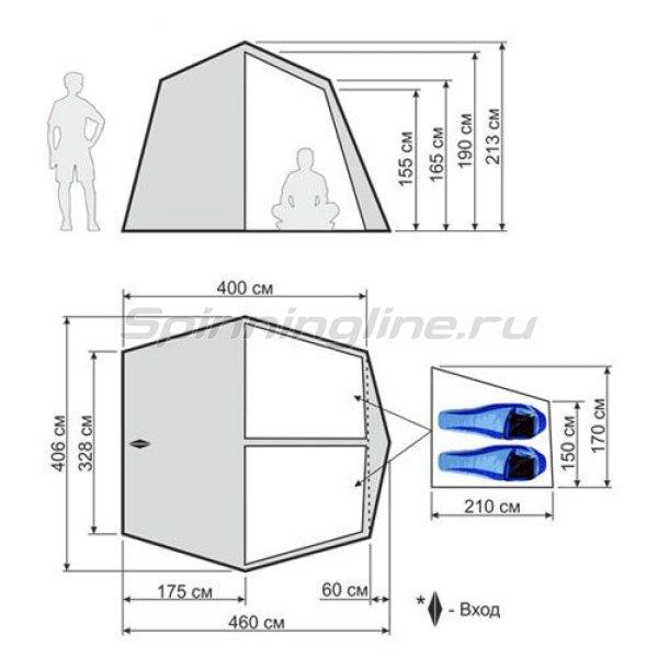 Палатка кемпинговая быстросборная Cruise Comfort -  2