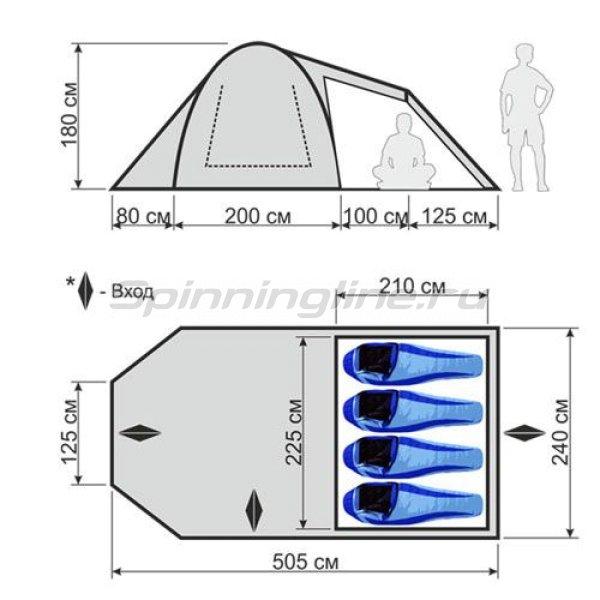 Палатка кемпинговая быстросборная Family Comfort -  2