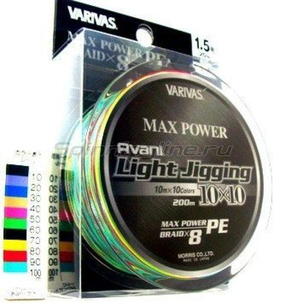 Varivas - Шнур Avani Light Jigging 10x10 Max Power PE 200м 0.8 - фотография 1