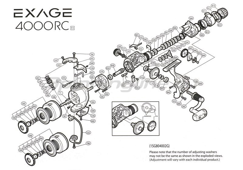 Катушка Exage 4000 RC -  9