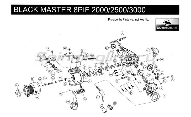 Cormoran - Катушка Black Master 8 PiF 3000 - фотография 2