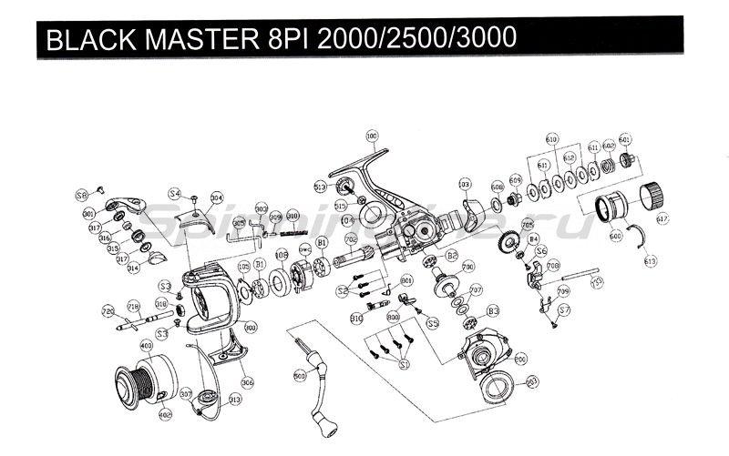 Катушка Black Master 8 PI 2500 -  2