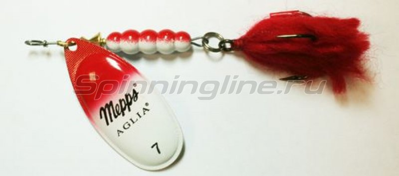 Блесна Aglia 7 Red/ White/ S 30гр -  1