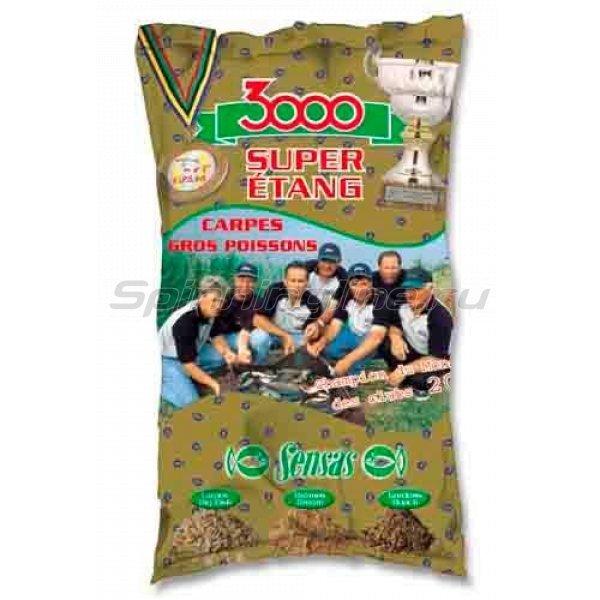 Прикормка Sensas 3000 Super Etang Carp 1 кг -  1