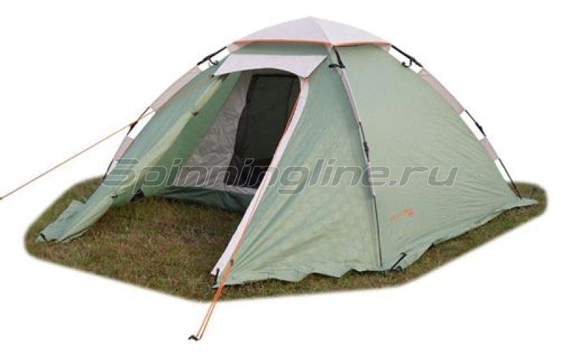 Палатка туристическая быстросборная Mobile 2 (зеленый с тиснением) -  1