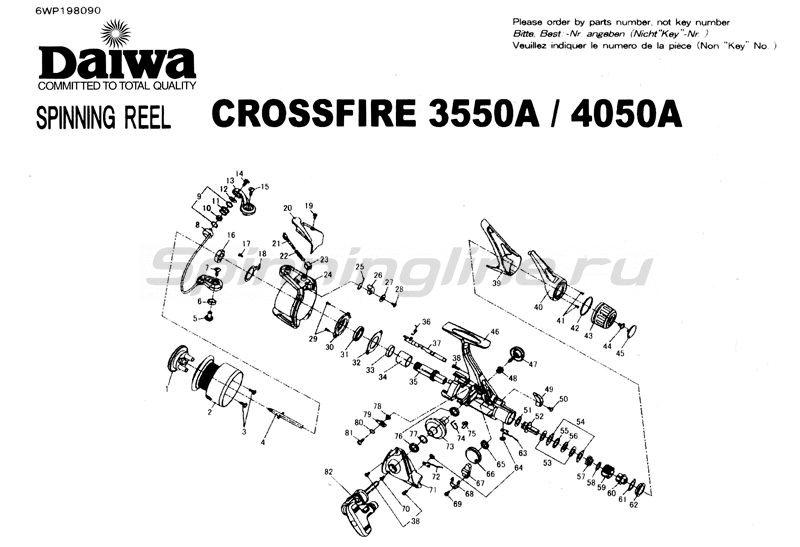 Daiwa - Катушка Crossfire 3550A - фотография 5