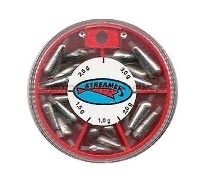 Набор грузил Streamer Капля с силик.мал. кор. 1.0-3.0гр - фотография 1
