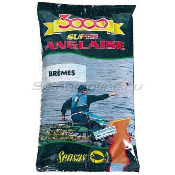 Прикормка Sensas 3000 Super Anglaise Bremes 1 кг -  1