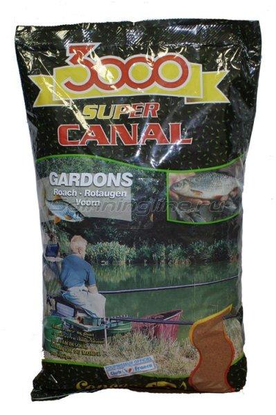 Прикормка Sensas 3000 Super Canal Gardons 1 кг -  1
