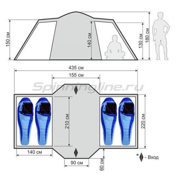 Палатка кемпинговая быстросборная Slider -  2
