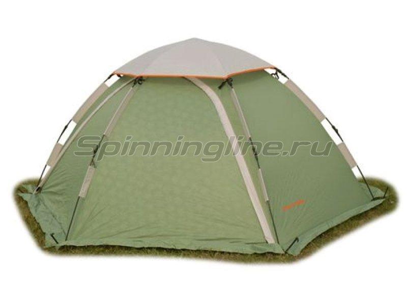 World of Maverick - Палатка туристическая быстросборная Aero 2+ цвет зеленый с тиснением - фотография 1