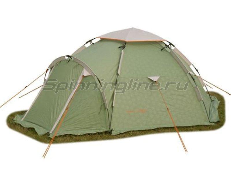 Палатка туристическая быстросборная Igloo 3 цвет зеленый с тиснением -  1