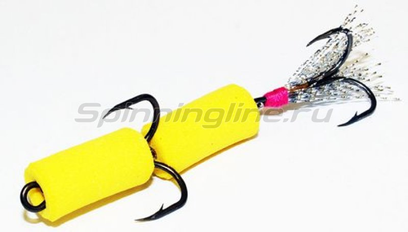 Мандула желтый, оперение - серебристый люрекс -  1
