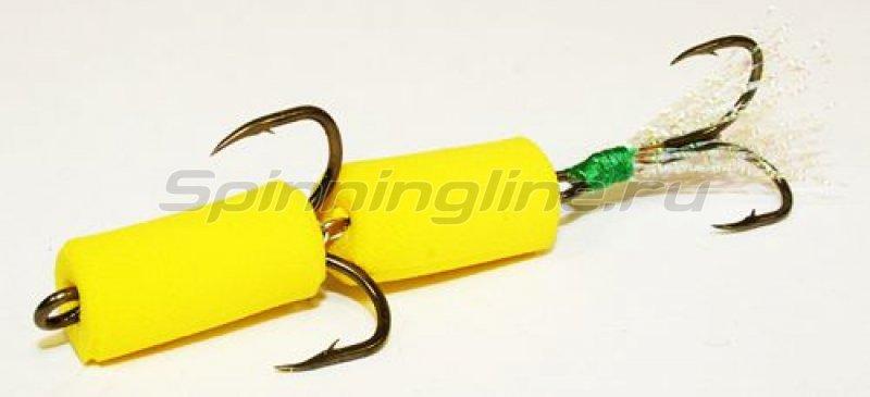 Мандула желтый, оперение - перламутровый люрекс -  1
