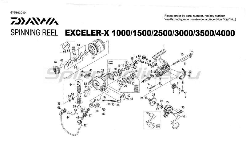 Daiwa - Катушка Exceler X 2500 - фотография 5
