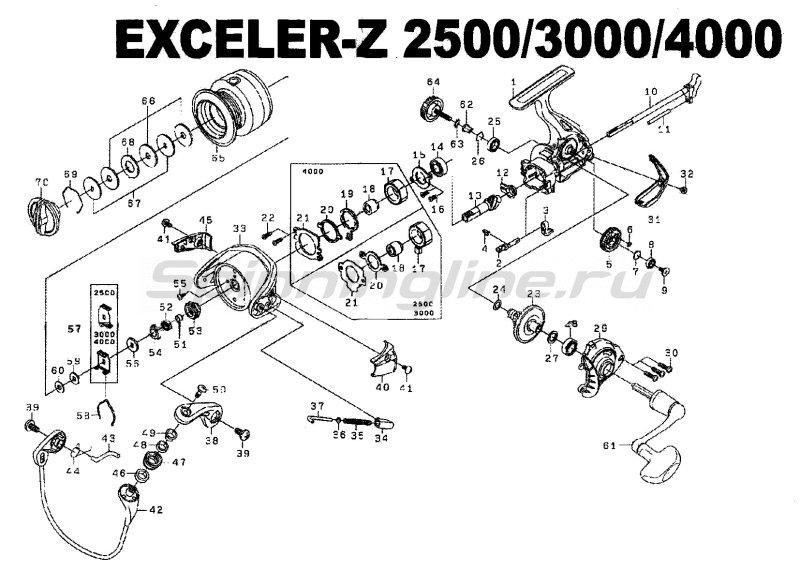 Катушка Exceler Z 2500 -  10