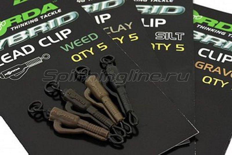 Безопасная клипса Korda Hybrid Lead Clip Weed - фотография 1