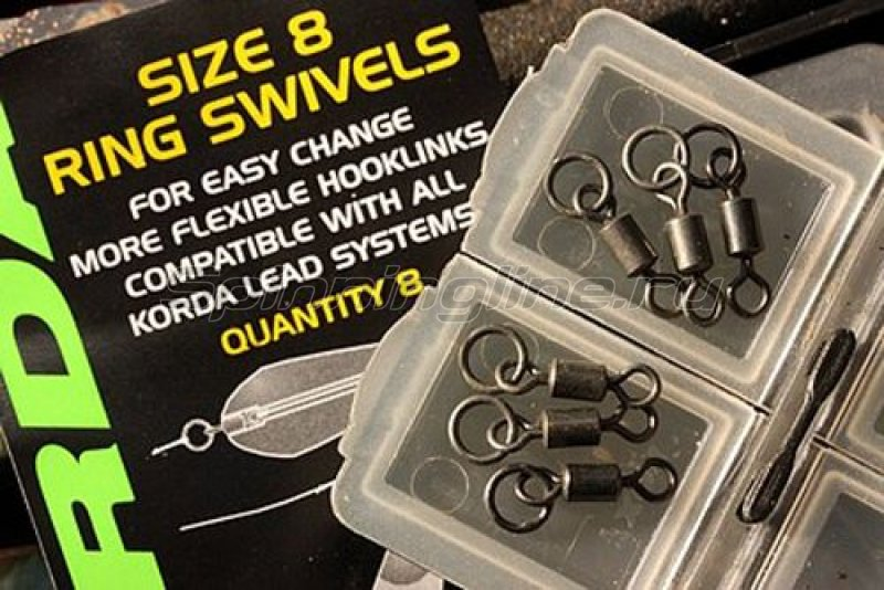 Вертлюг с кольцом Korda Ring Swivels 8 size 8 - фотография 1