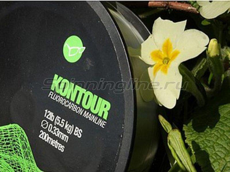 Леска Korda Kontour Fluorocarbon 200м 0,33мм -  1