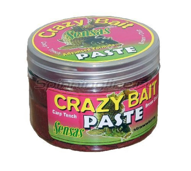 Тесто Sensas Crazy Bait Strawberry 150гр - фотография 1