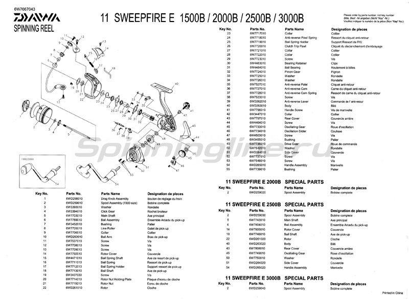 Daiwa - Катушка Sweepfire 1500E - фотография 5
