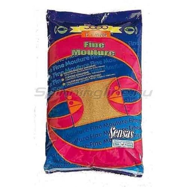 Прикормка Sensas 3000 Etang Fine Mouture 1 кг - фотография 1